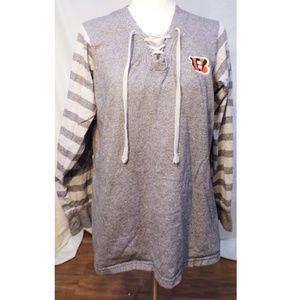Cincinnati Bengals Corset Lace Up Sweatshirt